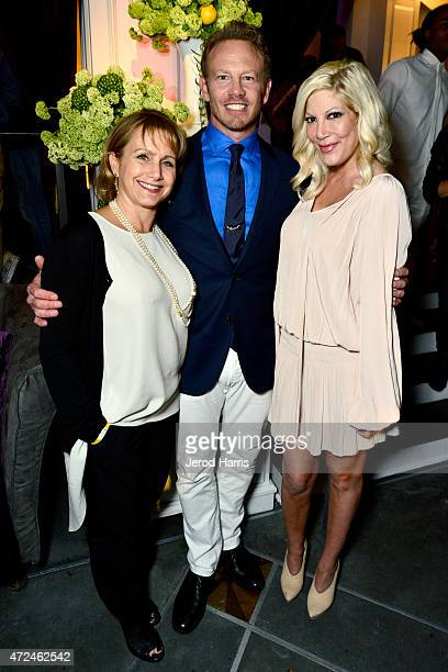 Actors Gabrielle Carteris Ian Ziering and Tori Spelling attend an event hosted by WE tv and Ian Ziering to raise awareness for Canine Companions for...