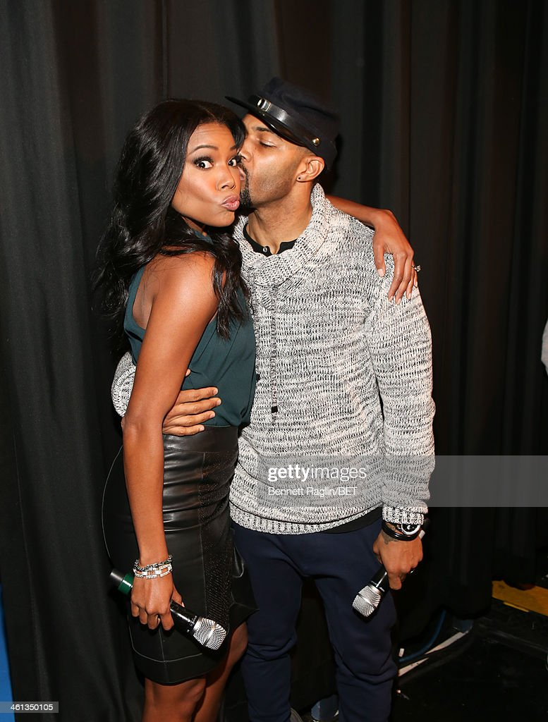 Actors Gabrielle Union and Omari Hardwick visit 106 Park at BET studio on January 7 2014 in New York City