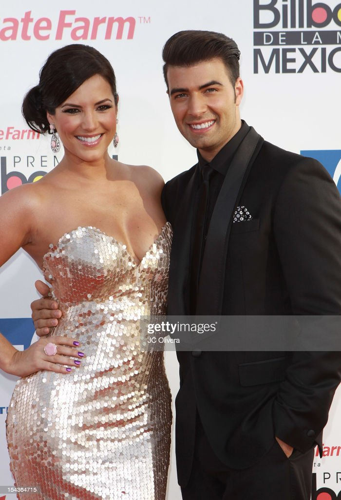 Actors <a gi-track='captionPersonalityLinkClicked' href=/galleries/search?phrase=Gaby+Espino&family=editorial&specificpeople=4233029 ng-click='$event.stopPropagation()'>Gaby Espino</a> and <a gi-track='captionPersonalityLinkClicked' href=/galleries/search?phrase=Jencarlos+Canela&family=editorial&specificpeople=4290761 ng-click='$event.stopPropagation()'>Jencarlos Canela</a> attend the 2012 Billboard Mexican Music Awards at The Shrine Auditorium on October 18, 2012 in Los Angeles, California.
