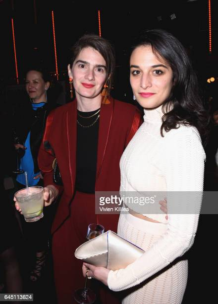 Actors Gaby Hoffmann and Jenny Slate attends the tenth annual Women in Film PreOscar Cocktail Party presented by Max Mara and BMW at Nightingale...