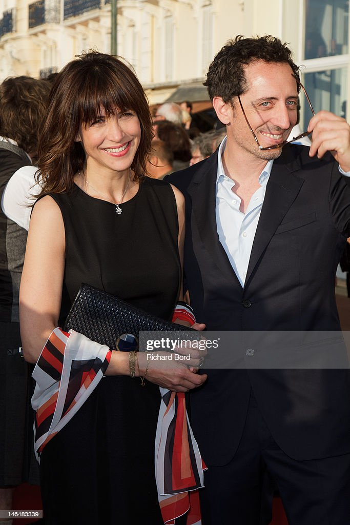 Actors <a gi-track='captionPersonalityLinkClicked' href=/galleries/search?phrase=Gad+Elmaleh&family=editorial&specificpeople=586672 ng-click='$event.stopPropagation()'>Gad Elmaleh</a> and <a gi-track='captionPersonalityLinkClicked' href=/galleries/search?phrase=Sophie+Marceau&family=editorial&specificpeople=220531 ng-click='$event.stopPropagation()'>Sophie Marceau</a> attend the 26th Cabourg Romantic Film Festival on June 16, 2012 in Cabourg, France.