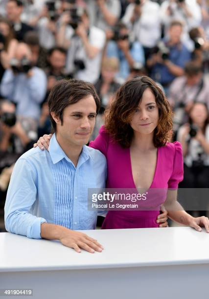 Actors Gael Garcia Bernal and Alice Braga attend the 'El Ardor' photocall at the 67th Annual Cannes Film Festival on May 18 2014 in Cannes France