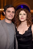 Actors Gael Garcia Bernal and Bernadette Peters attend the Screening and QA for Amazon's 'Mozart In The Jungle' after party at The Hollywood...