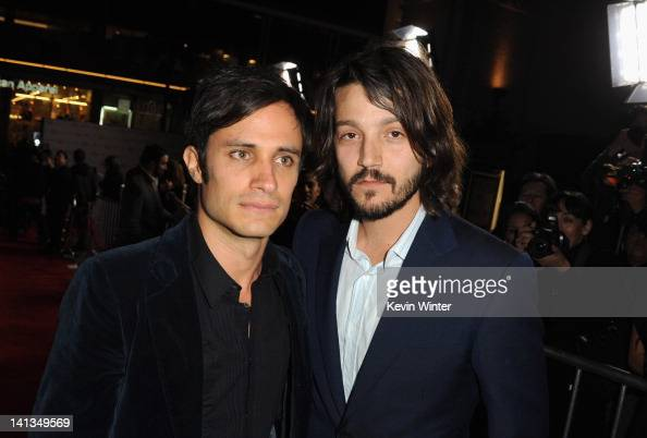 Actors Gael Garcia Bernal and Diego Luna arrive at Premiere of Pantelion Films' 'Casa De Mi Padre' at Grauman's Chinese Theatre on March 14 2012 in...