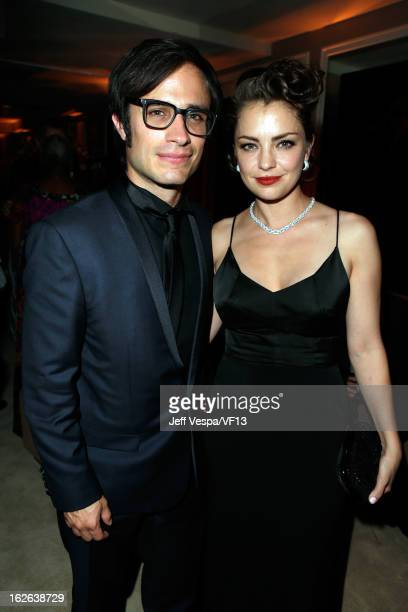 Actors Gael Garcia Bernal and Dolores Fonzi attend the 2013 Vanity Fair Oscar Party hosted by Graydon Carter at Sunset Tower on February 24 2013 in...