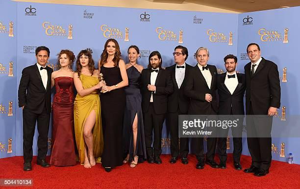 Actors Gael Garcia Bernal Bernadette Peters Lola Kirke and Saffron Burrows producers Caroline Baron Jason Schwartzman and Roman Coppola and...