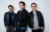 Actors Garett Clayton James Franco and Christian Slater from 'King Cobra' pose at the Tribeca Film Festival Getty Images Studio on April 16 2016 in...