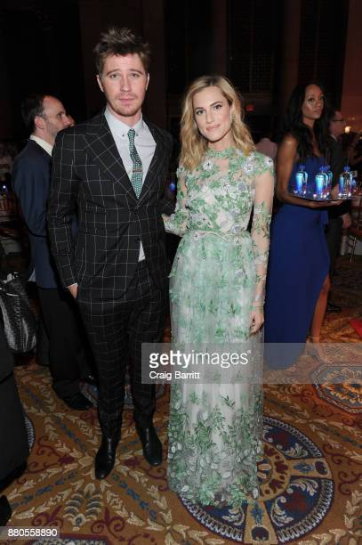 Actors Garrett Hedlund and Allison Williams attend The 2017 IFP Gotham Independent Film Awards cosponsored by FIJI Water at Cipriani Wall Street on...