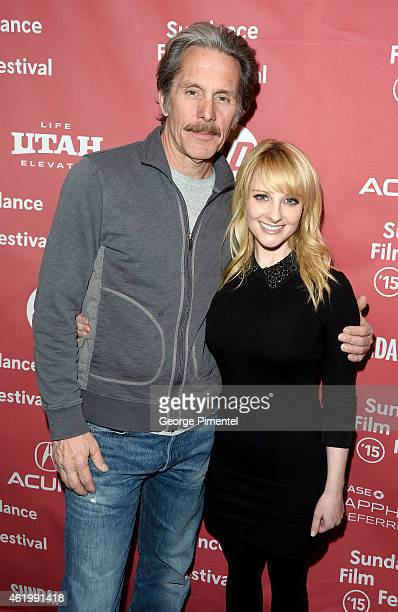Actors Gary Cole and Melissa Rauch attend 'The Bronze' Premiere at the Eccles Center Theatre during the 2015 Sundance Film Festival on January 22...