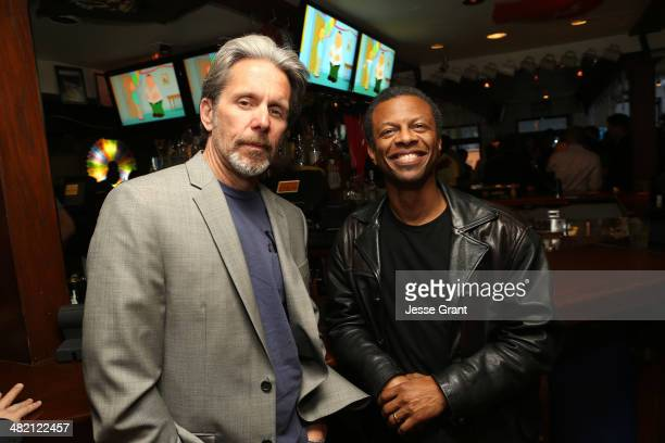 Actors Gary Cole and Phil LaMarr attend the FAMILY GUY The Quest For Stuff Los Angeles Premiere Party at The Happy Ending Bar Restaurant on April 2...