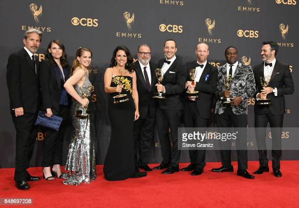 Actors Gary Cole Clea DuVall Anna Chlumsky Julia LouisDreyfus Kevin Dunn Tony Hale Matt Walsh Sam Richardson and Reid Scott pose in the press room...