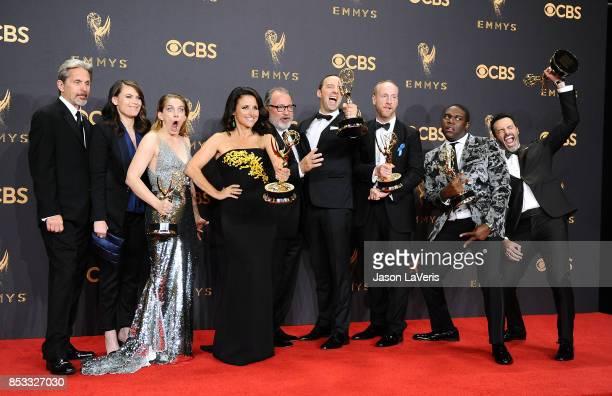 Actors Gary Cole Clea DuVall Anna Chlumsky Julia LouisDreyfus Kevin Dunn Tony Hale Matt Walsh Sam Richardson and Reid Scott winners of the award for...