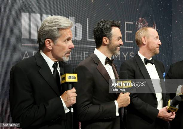 Actors Gary Cole Reid Scott and Matt Walsh winners of the award for Outstanding Comedy Series for 'Veep' attend IMDb LIVE After the Emmys at...