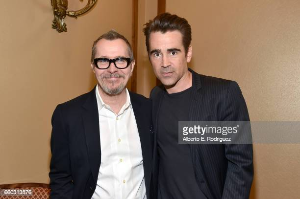 Actors Gary Oldman and Colin Farrell at CinemaCon 2017 Focus Features Celebrating 15 Years and a Bright Future at Caesars Palace during CinemaCon the...
