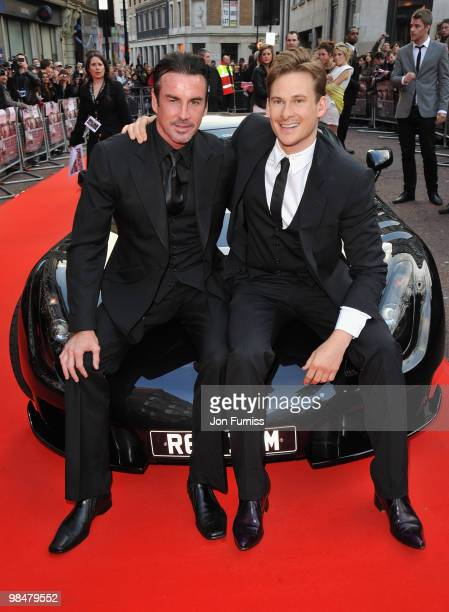 Actors Gary Stretch and Lee Ryan attend 'The Heavy' film premiere at the Odeon West End on April 15 2010 in London England