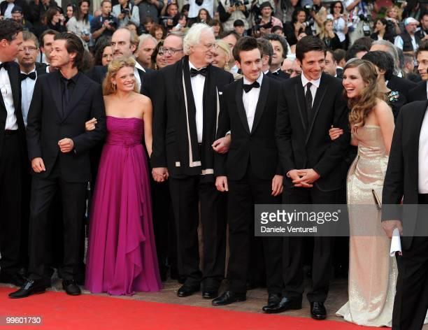 Actors Gaspard Ulliel Melanie Thierry director Bertrand Tavernier Gregoire LeprinceRinguet Raphael Personnaz and Josephine de La Baume attend the...