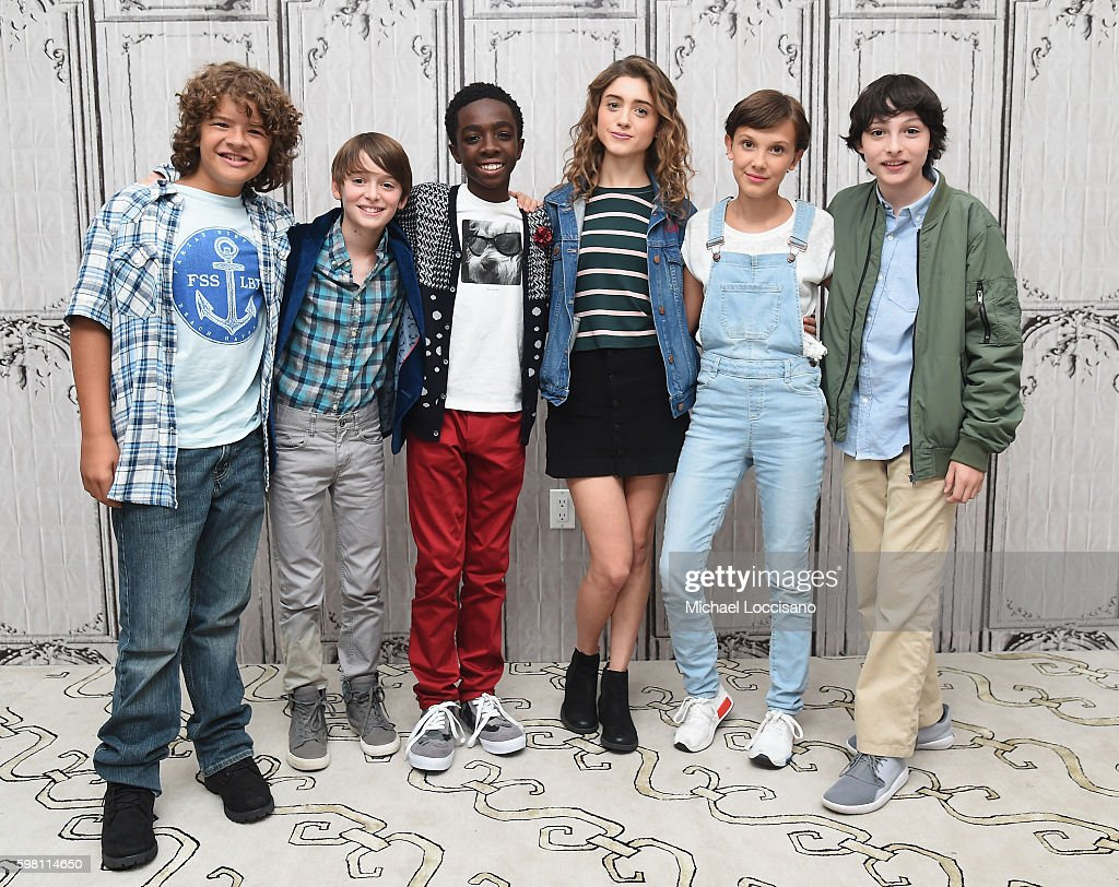 "BUILD Series Presents Millie Bobby Brown, Gaten Matarazzo, Noah Schnapp, Natalia Dyer, Finn Wolfhard And Caleb McLaughlin Of ""Stranger Things"""