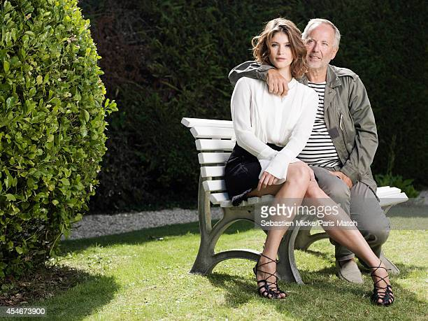 Actors Gemma Arterton and Fabrice Luchini are photographed for Paris Match on August 22 2014 in Angouleme France
