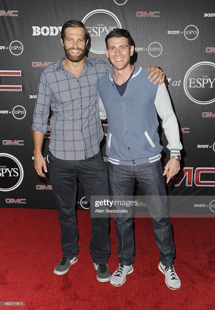Actors Geoff Stults and Bryan Greenberg attend ESPN Presents BODY At ESPYS Pre-Party at Lure on July 15, 2014 in Hollywood, California.