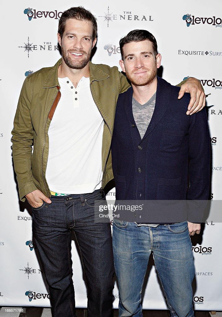 Actors <a gi-track='captionPersonalityLinkClicked' href=/galleries/search?phrase=Geoff+Stults&family=editorial&specificpeople=228938 ng-click='$event.stopPropagation()'>Geoff Stults</a> and <a gi-track='captionPersonalityLinkClicked' href=/galleries/search?phrase=Bryan+Greenberg&family=editorial&specificpeople=2135761 ng-click='$event.stopPropagation()'>Bryan Greenberg</a> attend The Second Annual Olevolos Project Fundraiser at The General on May 11, 2013 in New York City.