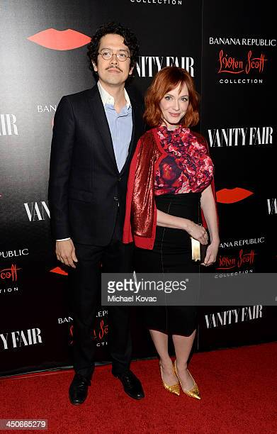 Actors Geoffrey Arend and Christina Hendricks attend the launch celebration of the Banana Republic L'Wren Scott Collection hosted by Banana Republic...