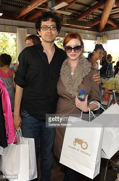 Actors Geoffrey Arend and Christina Hendricks attend The Suite Life Skybar Emmy Suites at SkyBar on September 18 2009 in West Hollywood California