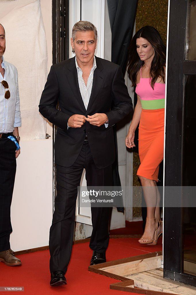 Actors George Clooney and Sandra Bullock attend 'Gravity' Photocall during the 70th Venice International Film Festival on August 28, 2013 in Venice, Italy.