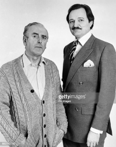 Actors George Cole and Peter Bowles currently costarring in Yorkshire TV's comedy serial The Bounder Peter plays the title role and George his stuffy...
