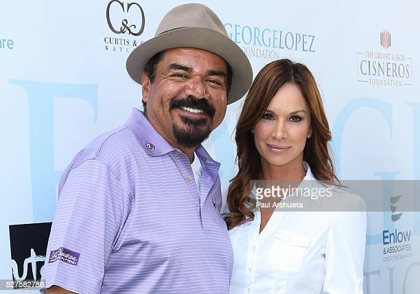 Actors George Lopez and Debbe Dunning attend the ninth annual George Lopez Celebrity Golf Classic at Lakeside Golf Club on Monday May 2 2016 in...