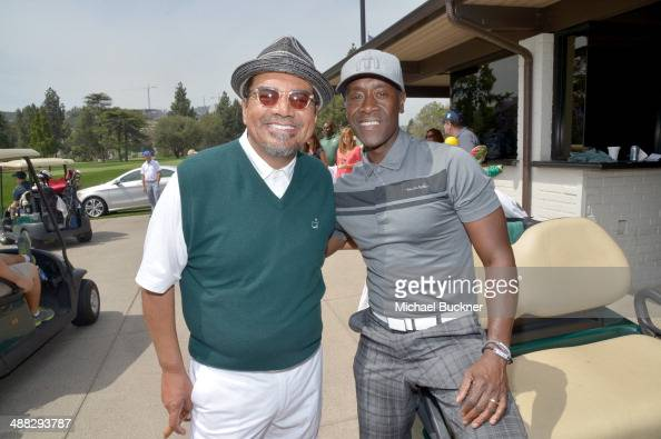 Actors George Lopez and Don Cheadle attend the 7th annual George Lopez Celebrity Golf Classic presented by Sabra Salsa at Lakeside Golf Club on May 5...
