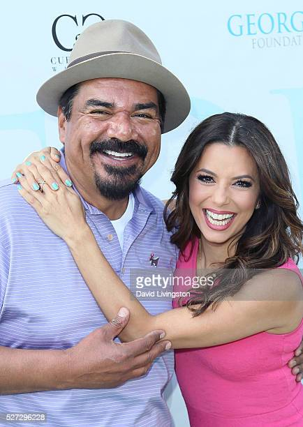 Actors George Lopez and Eva Longoria attend the Ninth Annual George Lopez Celebrity Golf Classic at Lakeside Golf Club on May 2 2016 in Burbank...