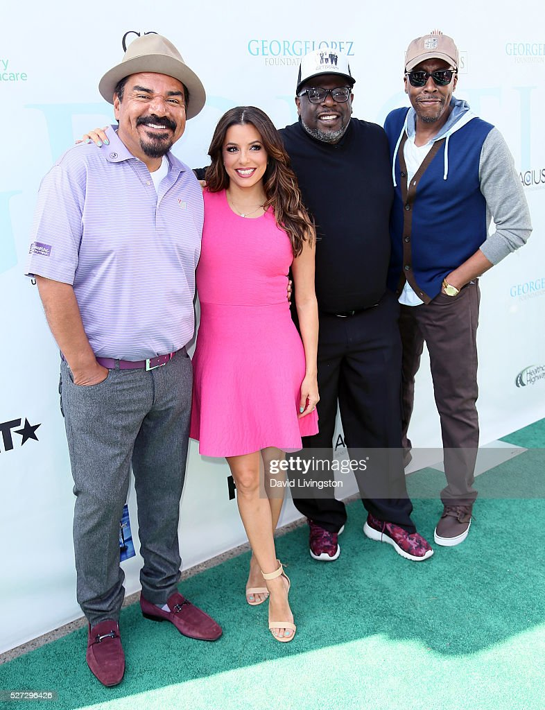 Actors George Lopez, Eva Longoria, Cedric the Entertainer and Arsenio Hall attend the Ninth Annual George Lopez Celebrity Golf Classic at Lakeside Golf Club on May 2, 2016 in Burbank, California.
