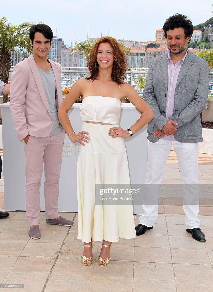 Actors George Pistereanu, Ada Condeescu and director Catalin Mitulescu attend the 'Loverboy' Photocall during the 64th Cannes Film Festival at the Palais des Festivals on May 18, 2011 in Cannes, France.