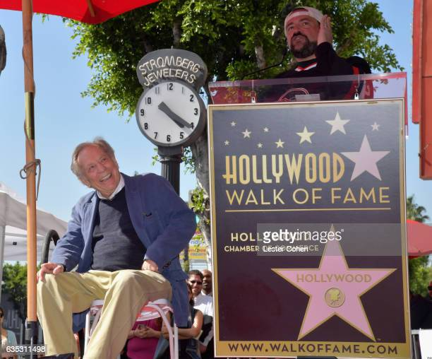 Actors George Segal and Kevin Smith attend George Segal's star ceremony on the Hollywood Walk of Fame on February 14 2017 in Los Angeles California