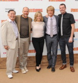 Actors George Takei Woody Harrelson Amy Poehler Owen Wilson and director Jimmy Hayward arrive at the 'Free Birds' Los Angeles Premiere at Westwood...