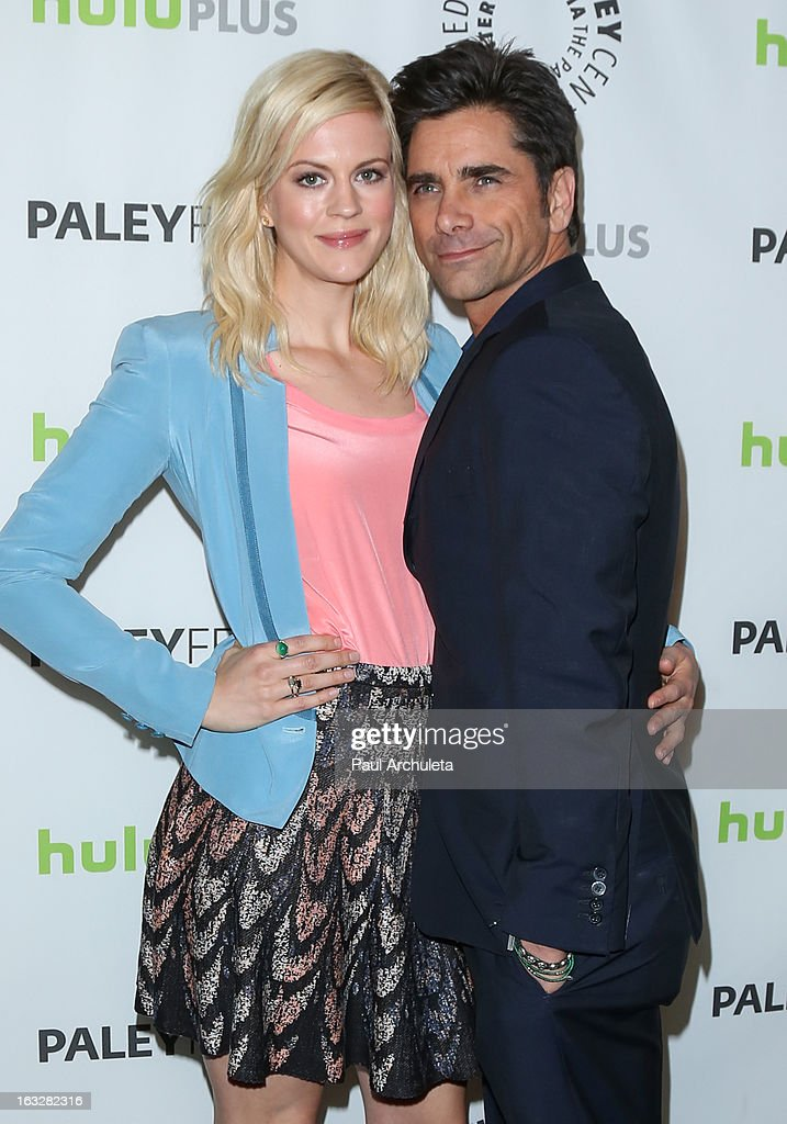 Actors Georgia King (L) and John Stamos attend the 30th annual PaleyFest featuring the cast of 'The New Normal' at Saban Theatre on March 6, 2013 in Beverly Hills, California.