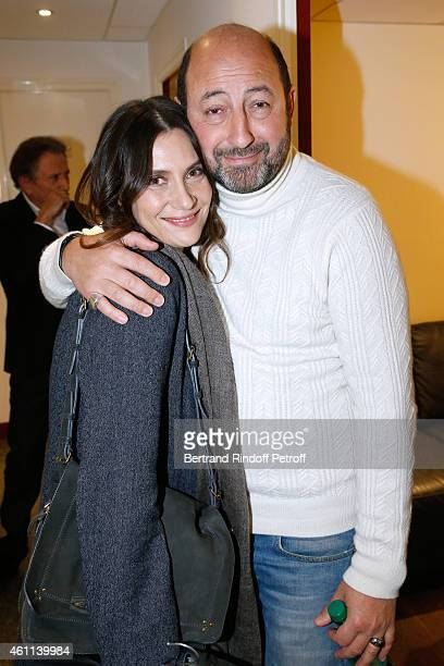 Actors Geraldine Pailhas and Kad Merad present the movie 'Disparue en hiver' during the 'Vivement Dimanche' French TV Show at Pavillon Gabriel on...