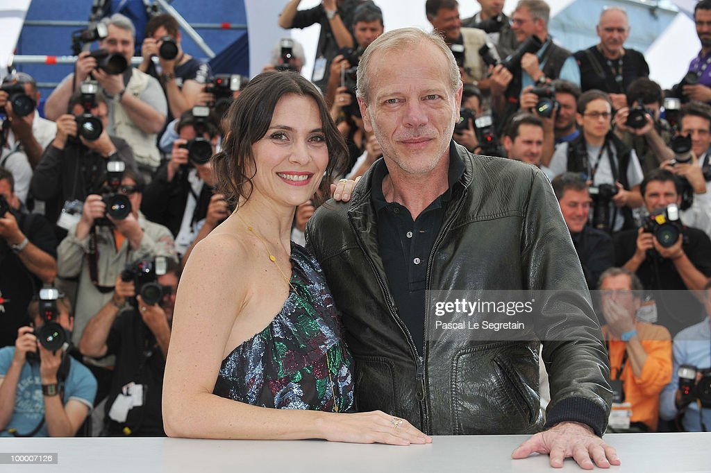 Actors Geraldine Pailhas and Pascal Greggory attend the 'Rebecca H. (Return To The Dogs)' Photocall at the Palais des Festivals during the 63rd Annual Cannes Film Festival on May 20, 2010 in Cannes, France.