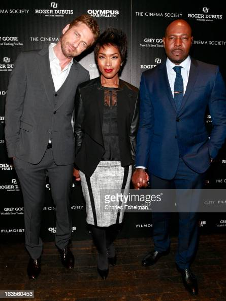 Actors Gerard Butler Angela Bassett and director Antoine Fuqua attend The Cinema Society with Roger Dubuis and Grey Goose screening of FilmDistrict's...