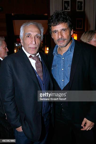 Actors Gerard Darmon and Pascal Elbe attend the Fouquet's Paris Restaurant presents its Menu 'Twisted' by the Chef Pierre Gagnaire Held at Le...