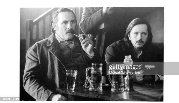 Actors Gerard Depardieu and Renaud in a scene from the movie 'Germinal' circa 1993