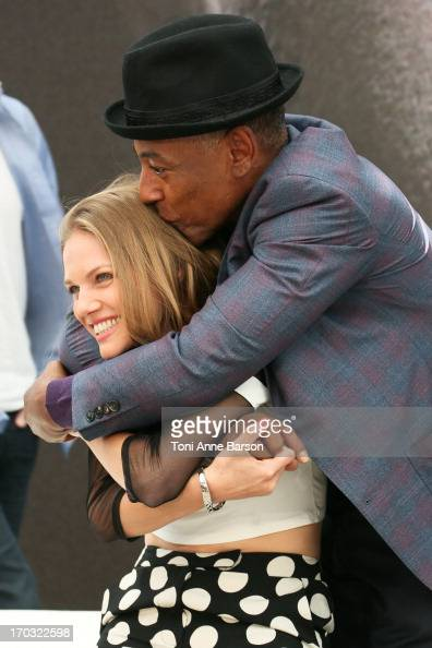 Actors Giancarlo Esposito and Tracy Spiridakos pose at the 'Revolution' Photocall during the 53rd Monte Carlo TV Festival on June 10 2013 in...