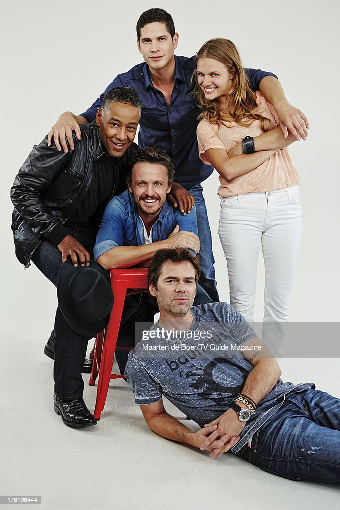 Actors <a gi-track='captionPersonalityLinkClicked' href=/galleries/search?phrase=Giancarlo+Esposito&family=editorial&specificpeople=725984 ng-click='$event.stopPropagation()'>Giancarlo Esposito</a>, David Lyons, JD Pardo, <a gi-track='captionPersonalityLinkClicked' href=/galleries/search?phrase=Billy+Burke&family=editorial&specificpeople=602361 ng-click='$event.stopPropagation()'>Billy Burke</a> and <a gi-track='captionPersonalityLinkClicked' href=/galleries/search?phrase=Tracy+Spiridakos&family=editorial&specificpeople=8954855 ng-click='$event.stopPropagation()'>Tracy Spiridakos</a> are photographed for TV Guide Magazine on July 20, 2013 on the TV Guide Magazine Yacht in San Diego, California. PUBLISHED IMAGE.