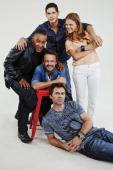Actors Giancarlo Esposito David Lyons JD Pardo Billy Burke and Tracy Spiridakos are photographed for TV Guide Magazine on July 20 2013 on the TV...