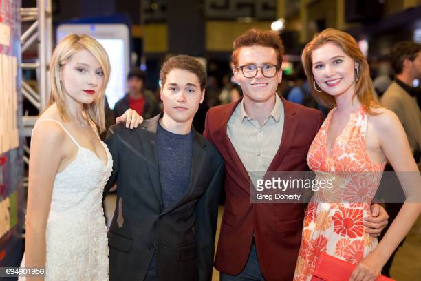Actors Gianna LePera Benjamin A Hoyt Justin Tinucci and Serena Laurel attend the 20th Annual Dances With Films Premiere Of 'Devil's Whisper' at TCL...