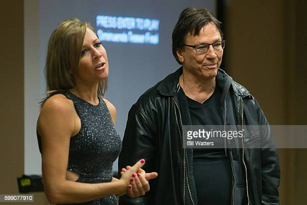 Actors Gigi Edgley and Richard Hatch talk about their upcoming film Diminuendo at Dragon Con on September 3 2016 in Atlanta Georgia