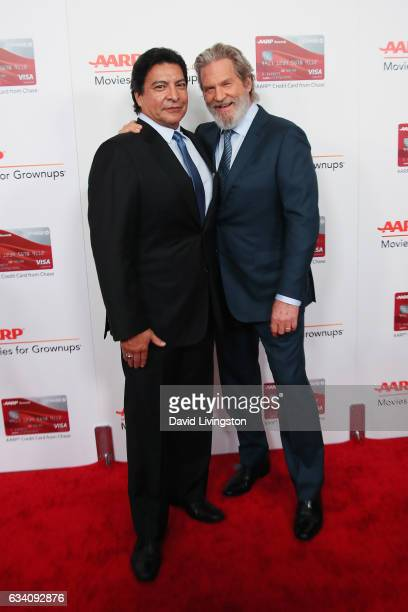 Actors Gil Birmingham and Jeff Bridges attend the AARP's 16th Annual Movies for Grownups Awards at the Beverly Wilshire Four Seasons Hotel on...