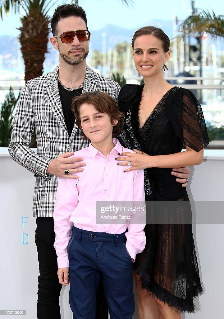 Actors Gilad Kahana, Amir Tessler and director Natalie Portman attend a photocall for 'A Tale Of Love And Darkness' during the 68th annual Cannes Film Festival on May 17, 2015 in Cannes, France.
