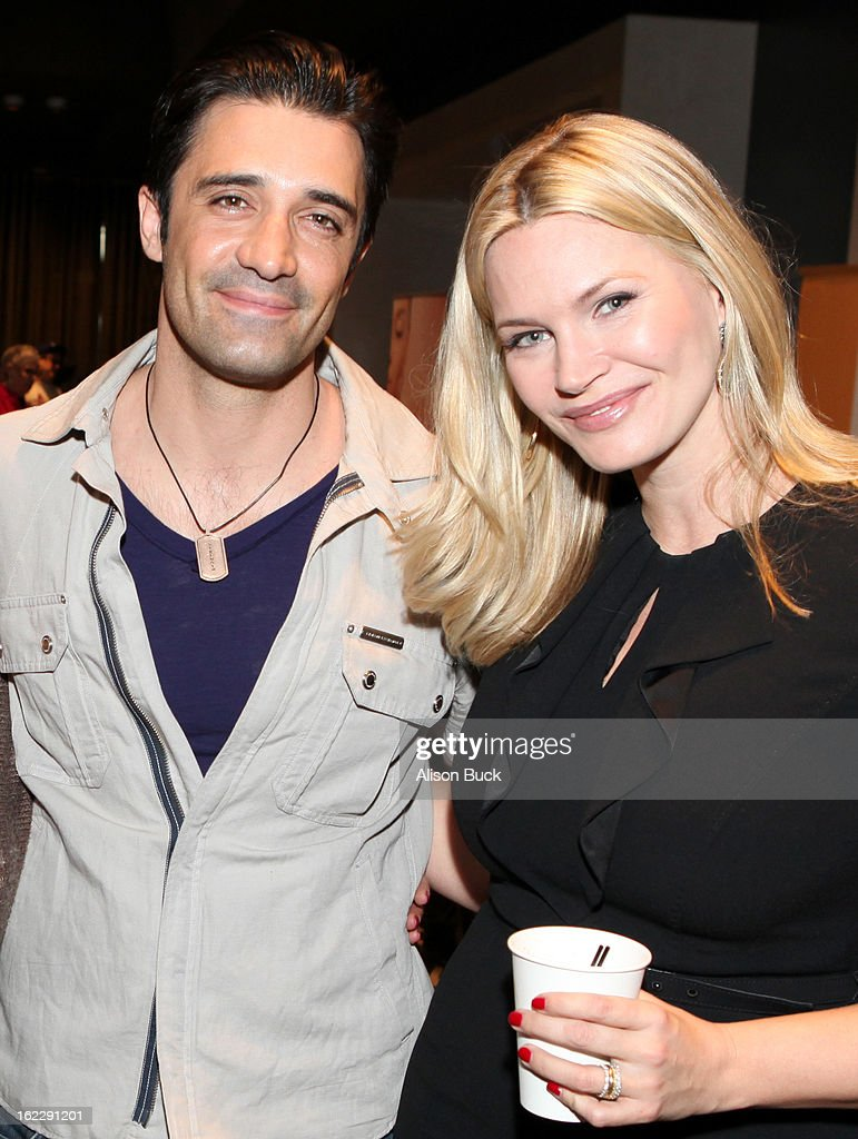 Actors <a gi-track='captionPersonalityLinkClicked' href=/galleries/search?phrase=Gilles+Marini&family=editorial&specificpeople=5360860 ng-click='$event.stopPropagation()'>Gilles Marini</a> and <a gi-track='captionPersonalityLinkClicked' href=/galleries/search?phrase=Natasha+Henstridge&family=editorial&specificpeople=209364 ng-click='$event.stopPropagation()'>Natasha Henstridge</a> attend Kari Feinstein's Pre-Academy Awards Style Lounge at W Hollywood on February 21, 2013 in Hollywood, California.