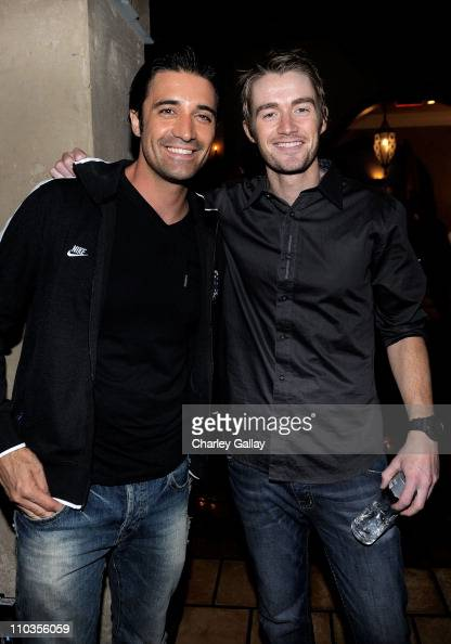 Actors Gilles Marini and Robert Buckley attend the 'Lost Planet 2' Lounge at The Roosevelt Hotel on May 6 2010 in Hollywood California